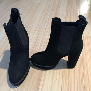 NWOT H&M Black Platform Booties Size 7